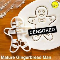 MATURE - Gingerbread Man cookie cutter | Naughty Christmas Easter Party biscuit