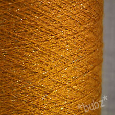 SOFT FINE GOLD GLITTER YARN BIG 250g CONE LACE KNIT EMBROIDERY METALLIC SHIMMER