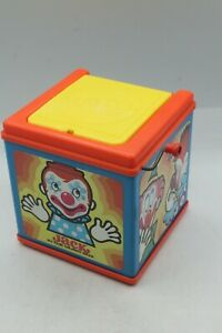 Vintage 1971 Mattel Jack-In-The-Box Clown Music Box