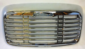 Fits Freightliner Columbia Chrome Grille Grill 2000 - 2008 Front w/o Bug Screen