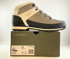 Timberland Men's Euro Sprint Mid Hiker Boots White Mesh A1JCC 100 Size 12