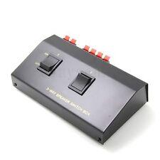 2 zone Speaker Selector Switch Switcher Splitter 200Watt