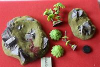 Games Workshop Warhammer 40K Scenery Bits Rocky Outcrop Craters Trees Jungle Lot