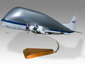 Aero Spacelines Super Guppy NASA 941 Solid Mahogany Wood Handmade Desktop Model