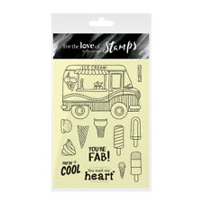 HUNKYDORY For the Love of Stamps ICE CREAM FUNDAE FTLS224 Lollies Mr Whippy Cone