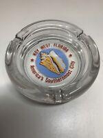 Key West Florida Vintage Glass Ash Tray Ashtray Unused Souvenir RARE VGC