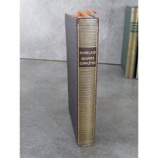 Collection Bibliothèque de la pléiade NRF Rabelais  Œuvres complètes Epuisé  10