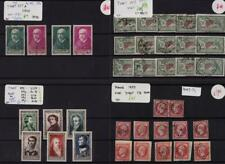 FRANCE: 1853-1938 Collection of Used & Unused Examples - 8 Stock Cards (35669)
