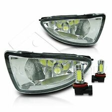04-05 Civic 2/4Dr Fog Lights w/Wiring Kit & High Power COB LED Bulbs - Clear