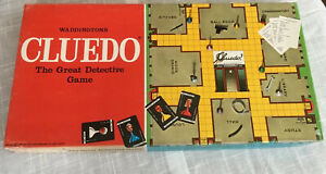 1975 Vintage Cluedo The Great Detective Board Game by Waddingtons - Complete