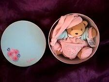 Doudou ours Liliblue rose bleu coeur KALOO NEUF