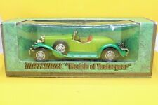 Matchbox Models of yesteryear Y-14 1931 Stutz Bearcat in Two Tone Green