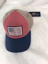 Vineyard Vines American Flag Trucker Hat NWT boys low pro