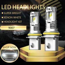 2X AUXITO 9007 HB5 LED Headlight Bulb 12000LM Hi Low Beam 6500K White High Power