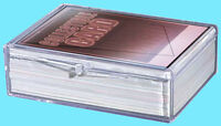 1 ULTRA PRO 50 COUNT CLEAR HINGED CARD STORAGE BOX Case Holder Sports Trading