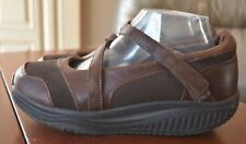 Womens SKECHERS SHAPE-UPS 24866 Brown Leather Toning Walking Shoes SIZE 9 EU 39