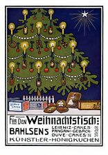 Bahlsen Weihnachten XL Reklame 1910 Leipniz Pangani Christbau Geschenke Kunst +