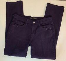 Levis 505 Womens Jeans Size 8M Straight Leg Purple Bling Pockets W29 L32