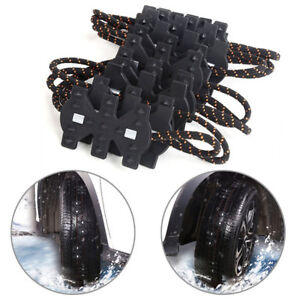 4pcs Thick Tendon Emergency Belt Thickening Tire Chains Snow Anti-skid For Car