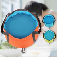 Portable 10L Folding Washbasin Bucket Wash Basin Foldable Camping Water Pot