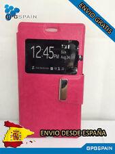 Funda Carcasa Libro Iman Wiko Selfy 4G Rosa ENVIO GRATIS
