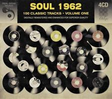 SOUL 1962 100 CLASSIC TRACKS - VOLUME ONE - VARIOUS  ARTISTS (NEW SEALED 4CD)
