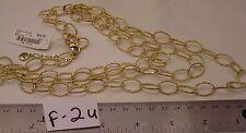 "Gold Color Diamond Cut 3 Str Jewelry Necklace Signed Alfani $32 Fashion 20"" 22"""