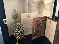 Faberge Imperial Blue Pine Cone Egg With Original Box And Coa