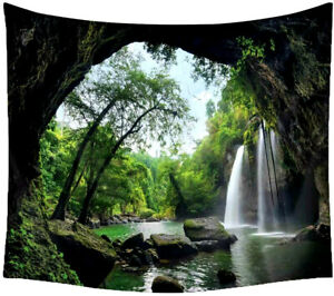 3D Landscape Nature Tapestry Wall Hanging Bedspread Throw Cover Home Decor