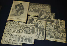 1950's MONTREAL CANADIENS NHL NEWSPAPER CUTOUT PHOTOS (8) - MAURICE RICHARD, etc