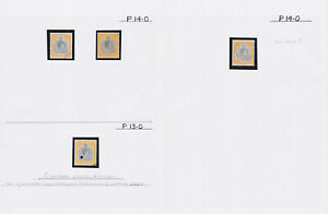 Bermuda. 12/6 shades study in hingeless mounts on two pages.
