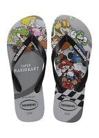 Havaianas Men's Super Mario Kart Flip Flop Sandals - Gray Silver NWT