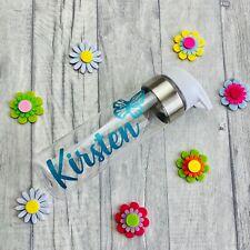 PERSONALISED BUTTERFLY WATER BOTTLE, Work Present Gym Bottle Keepsake Gift