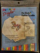 DIZZLE preshaded Iron-on TRANSFERS carousel horse