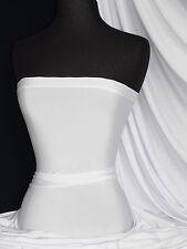 Pure white shiny lycra/ spandex 4 way stretch fabric Q54 WHT