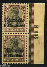 DP marruecos 50c/50pfg. Germania 1905 ** par + río han (s6866)