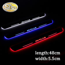 Sncn LED Moving Welcome Door Sill Scuff Plate for Toyota RAV4 2013-2014