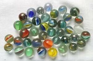 40 Old Marbles Glass Marbles Märbel Clicker Schusser Swirl Lauscha? Thuringia