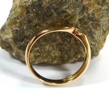 FANTASTICO ANELLO DONNA 54 (17,2 mm Ø ) 585/14 K oro con diamante 0,010ct