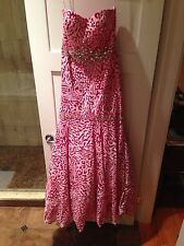 Stunning Colors Mermaid Sequin Pink Strapless Prom Evening Dress Gown Jovani