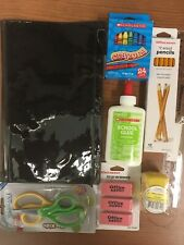School Supplies LOT, Glue, Pencils, Scissors, BOY, GIRL Ship Inc. Back to School