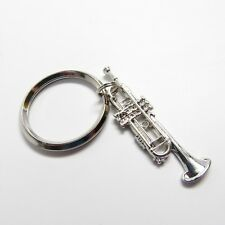 Bach Trumpet Nickel Silver Key Chain with Gift Box - NWT Music Gifts Jewelry