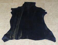 (ZZE8519-1) Hide of Finished Navy Blue Lambskin Leather Hide Skin