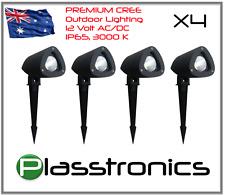 4x 3W Premium Garden outdoor low voltage LED lights Warm WHITE 12V AC/DC Spikes