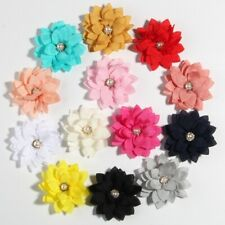 """30PCS 5.5CM 2.1"""" Small Layer Fabric Lotus Flower For Wedding Boutique Accessory"""