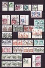 DG1110) Berlin Lot Dauerserien mit Rand und Einheiten gestempelt, 3 Bilder