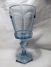 *NEW* Set of 8 Vintage Fostoria light BLUE wine glass VIRGINIA pattern