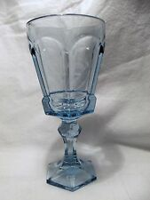 *NEW* Set of 8 Vintage Fostoria light BLUE wine glass VIRGINIA pattern NOS