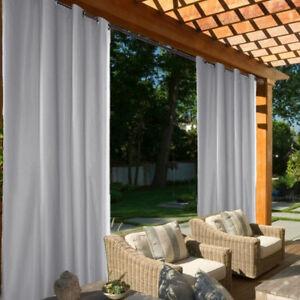 Drapé extérieur de panneau rideau occultant de rayons UV de 6 pièces pour cabane