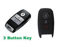 Kia 3 Button silicone car key cover protector Sportage Rio Optima Sorento-Black